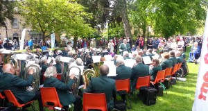 Camping-and-Caravanning-Clubs-brass-band-in-Bourton-on-the-Water