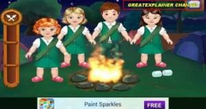 baby heroes outdoor camping Baby Outdoor Adventures game play education cartoon