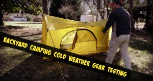 Backyard Camping Cold Weather Gear Testing