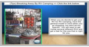 Breaking Away By RV Camping