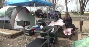 Camping at the Lakeside KOA in Fort Collins, Colorado