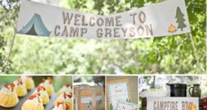 Camping birthday party decor ideas