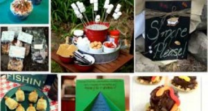 Camping birthday party decorations