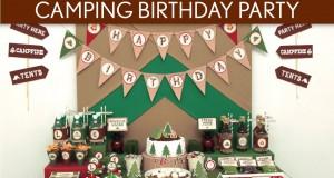 Camping Birthday Party Ideas // Camping – B113