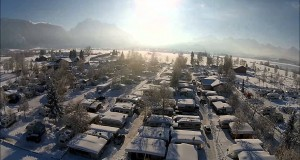 Camping Brunnen Winter 2014 im Schnee