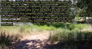 Camping recipe ideas and tips
