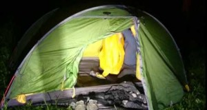 complete Camp setup at Night – Exped Venus II Tent
