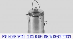 Details Stansport Outdoor 277 9 Cup Aluminum Camper-Feets Percolator Coffee Po Product images