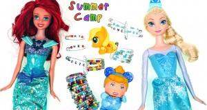 Disney Princess Inspired Friendship Pins + Bracelet! Frozen Ariel Cinderella DCTC Summer Camp