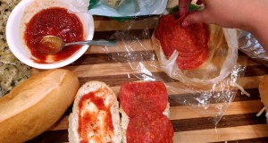Easy camping recipes. Campfire French bread pizza