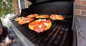 FUN Camping Food Ideas – Pizza on the BBQ/FIRE
