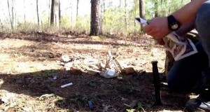 How to make fire with a tampon. Primitive camping and survival tips