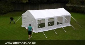 Kampa Inflatable Party Tent Pitching & Packing Video