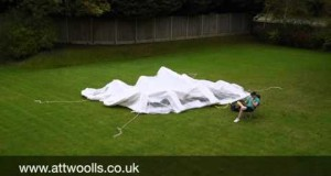 Kampa Inflatable Party Tent (with Electric Pump) Pitching & Packing Video (Real Time)