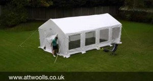Kampa Inflatable Party Tent (with Electric Pump) Pitching & Packing Video