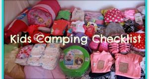 Kids Camping Checklist!