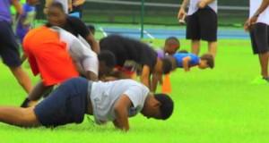 Kids football camp