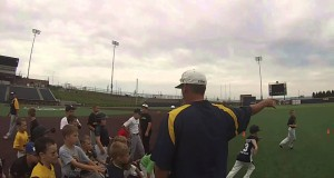 Kids having a blast during final day of WVU Youth Baseball Camp 2015