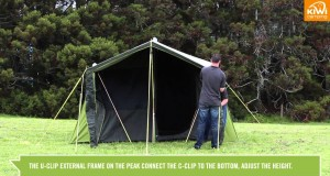 Kiwi Camping Kakapo Canvas Tent Series – Pitching