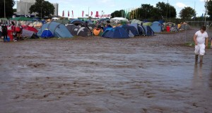 Luxury Campsite entrance on sunday @ Creamfields 2012 – Daresbury, UK