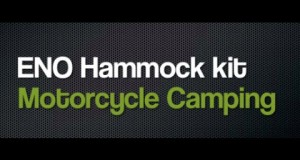 Motorcycle Camping ENO Hammock System Minimal Equipment How to set up