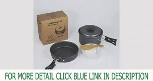 New OuterEQ 8pcs Lightweight Outdoor Camping Hiking Cookware Backpacking C Top List
