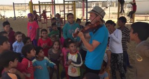 Nick Kennerly Performs for Kids at Za'atari Refugee Camp