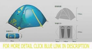 Outdoor Camping Equipment 3 Seasons Double Layer Tent 2 Person Tent(pink) Top List
