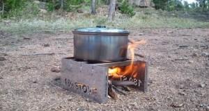 pocket-sized, wood-fire burning 180 camping stove