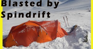 Snow Tent Blasted by Spindrift
