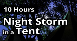 STORM in a TENT ★ 10 HOURS ★ Relaxing Storm and RAIN for SLEEP ★ Sleep Sounds