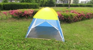 Summer Use Single Layer Beach Camping Tent with 3 Sides Mesh for Children