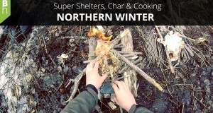 Super Shelter Beds, Char, Cooking – Camping Overnighter – Northern Winter – Bushcraft Heroes