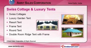 Swiss Cottage & Luxury Tents by Amrit Sales Corporation, New Delhi