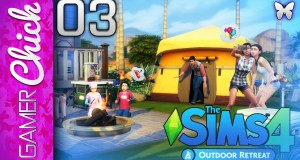 ❋ The Sims 4: Outdoor Retreat – Gameplay/Lets Play [Part 3 Camping!] (PC) w/ GamerChick