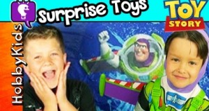 Toy Story Surprise CAMPING TENT! Disney Toys + Lego by HobbyKidsTV