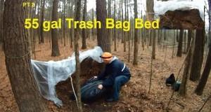 Under $10 Camping Shelter 2  Trash Bag Bed