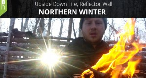 Upside Down Fire, Super Shelter, Winter Camping Overnighter – Northern Winter –  Bushcraft Heroes