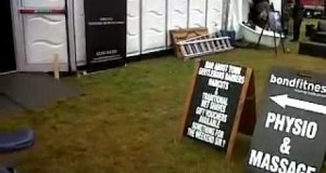 V Festival 2011 – Backstage – Festival Recovery Spa – Luxury V Camping – Bond Fitness