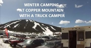 Winter Camping At Copper Mountain With A Truck Camper