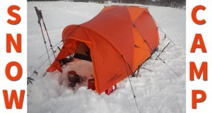 Winter Camping in a Snow Tent