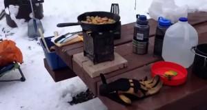 Winter Camping -Kamloops BC -Firebox