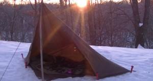 Winter camping sleeping bag test