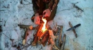Winter camping with ultralight gear