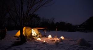 中蒜山 雪中キャンプ Winter Camping