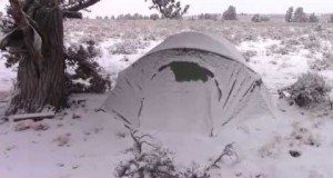 Winter Desert Car Camping – Winter Camping in Snow and Subzero