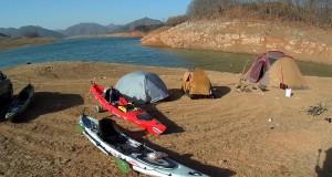겨울 카약 캠핑~ 후다닥의 카약피싱_Winter Kayak Camping