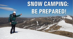 Winter Snow Camping Be Prepared