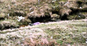 Winter wild hammock camping Peak District Jan 2015