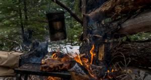 Woodcraft Bushcraft Winter Camp Setup